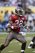 Bucs running back Michael Pittman at Super Bowl XXXVII in San Diego on 01/26/2003. The Tampa Bay Buccaneers defeated the Oakland Raiders 48 to 21. ©Paul Anthony Spinelli