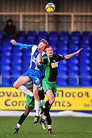 Football<br /> Coca Cola League One Hartlepool United vs Yeovil Town at Victoria Park Shaun MacDonald (Yeovil Town) and Armann Smari Bjornsson (Hartlepool United)<br /> 19/12/2009. Credit Colorsport / Darren Blackman