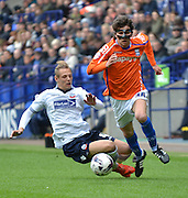 Diego Fabbrini breaks during the Sky Bet Championship match between Bolton Wanderers and Birmingham City at the Macron Stadium, Bolton, England on 2 May 2015. Photo by Mark Pollitt.