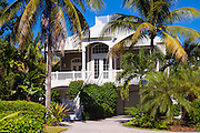 Luxury, stylish, winter home with sundeck and palm trees downtown on Captiva Island in Florida, USA