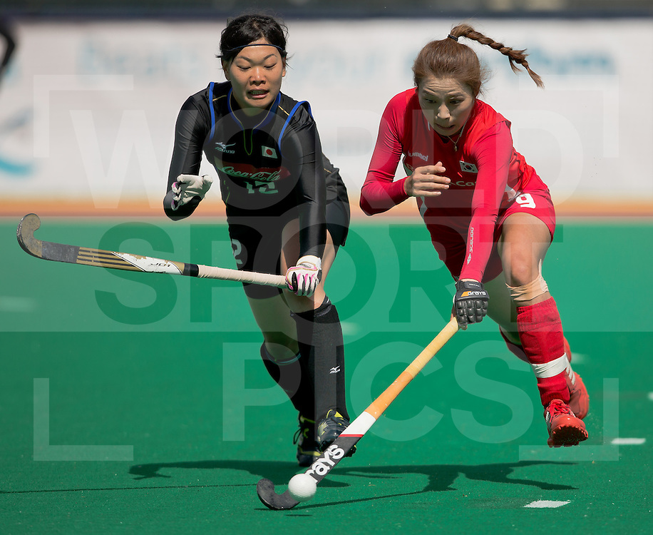 Hockey Womens World league Semi Finals Rotterdam 2013<br /> Japan v Korea 16062013<br /> Hye Lyoung Han<br /> <br /> Photo: Grant Treeby / treebyimages