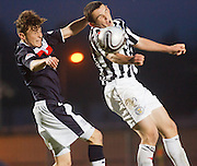 Dundee's Nicky Riley  and St Mirren's Paul Dummett - St Mirren v Dundee, Clydesdale Bank Scottish Premier League at St Mirren Park.. - © David Young - www.davidyoungphoto.co.uk - email: davidyoungphoto@gmail.com