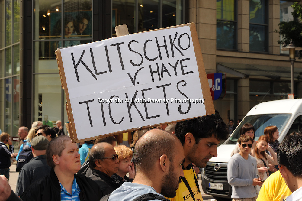 Friday 1st July 2011. Ticket sales outside the David Haye & Wladimir Klitschko Official Weigh In, Hamburg before for the WBA, WBO & IBF Heavyweight Title. Photo credit: Leigh Dawney 2011