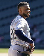 CHICAGO - APRIL 25:  Robinson Cano #22 of the Seattle Mariners looks on against the Chicago White Sox on April 25, 2018 at Guaranteed Rate Field in Chicago, Illinois.  (Photo by Ron Vesely)   Subject:   Robinson Cano