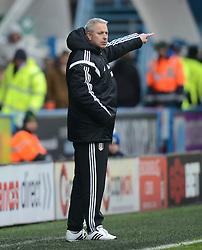 Fulham Manager, Kit Symons gestures - Photo mandatory by-line: Richard Martin-Roberts/JMP - Mobile: 07966 386802 - 21/03/2015 - SPORT - Football - Huddersfield - John Smith's Stadium - Huddersfield Town v Fulham - Sky Bet Championship