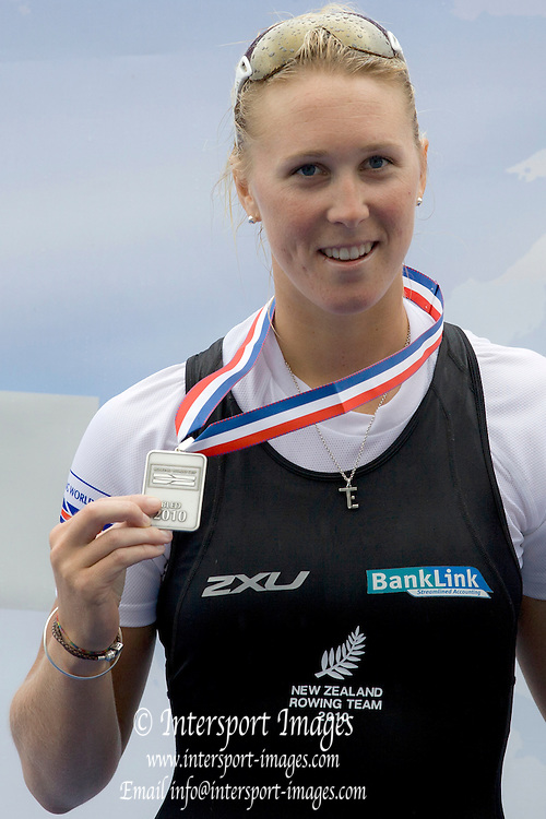 Bled Slovenia,  NZL W1x, Emma TWIGG, silver medalist in Women's Single Sculls, World Cup I Sunday  30/05/2010 [mandatory credit/katie Steenman/Intersport Images]