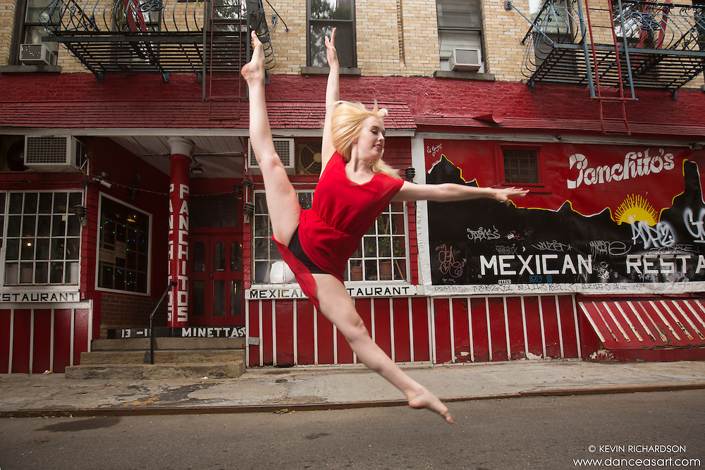 Streets of New York City Dance As Art Photography Project in West Village  featuring ballerina Alyssa Ness!