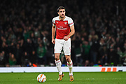Arsenal Defender Sokratis Papastathopoulos (5) during the Europa League group stage match between Arsenal and Sporting Lisbon at the Emirates Stadium, London, England on 8 November 2018.