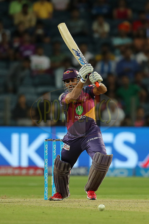 MS Dhoni of Rising Pune Supergiants during match 2 of the Vivo 2017 Indian Premier League between the Rising Pune Supergiants and the Mumbai Indians held at the MCA Pune International Cricket Stadium in Pune, India on the 6th April 2017<br /> <br /> Photo by Ron Gaunt - IPL - Sportzpics