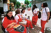 ECUADOR, QUITO, EDUCATION students in New Town area