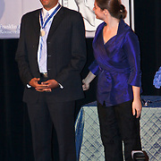 USA/New York/20090911 - Vriendschappelijk bezoek Willem - Alexander en Maxima ivm 400 jarig bestaan van New York, uitreiking Four Freedom Awards 2009, laueraat Freedom of Worship Medal voor dhr. Eboo Patel, executive director of  the Interfaith Youh Core