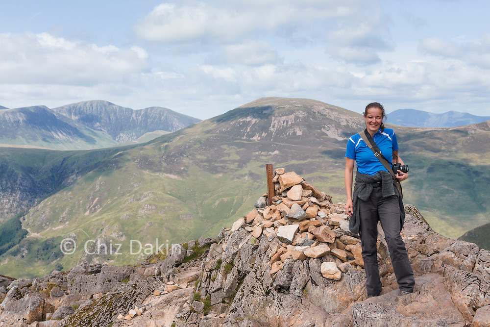 "Cindy Vriend on the ""popular"" summit of Haystacks which is actually 2m lower than the true summit (but has better views!)"