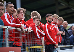 RHOSYMEDRE, WALES - Sunday, May 5, 2019: Connah's Quay Nomads players watch a children's game before the FAW JD Welsh Cup Final at The Rock. (Pic by David Rawcliffe/Propaganda)