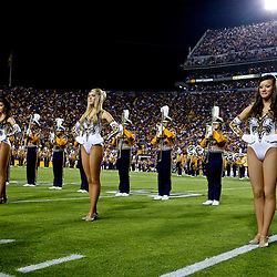 November 3, 2012; Baton Rouge, LA, USA; The LSU Tigers band performs with the Golden Girls dance team before a game against the Alabama Crimson Tide at Tiger Stadium. Alabama defeated LSU 21-17. Mandatory Credit: Derick E. Hingle-US PRESSWIRE