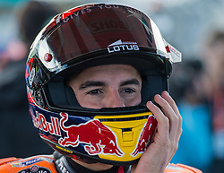 October 23, 2016 - Melbourne, Victoria, Australia - Spanish rider Marc Marquez (#93) of Repsol Honda Team puts his helmet on before the MotoGP category race at the 2016 Australian MotoGP held at Phillip Island, Australia. (Credit Image: © Theo Karanikos via ZUMA Wire)