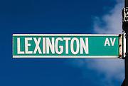 Lexington Avenue street sign in New York City, Manhattan.