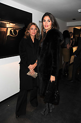 Left to right, ELISABETTA PINCHERLE and JUDE HESS at a private view of photographs by Guido Mocafico entitled 'Guns and Roses' held at Hamiltons Gallery, 13 Carlos Place, London W1 on 21st January 2010.