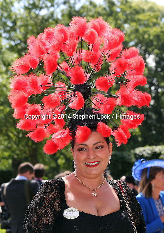 Image licensed to i-Images Picture Agency. 17/06/2014.   Nahla Dankha  on  the opening day of Royal Ascot, United Kingdom. Picture by Stephen Lock / i-Images