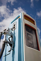 Petrol pump close-up
