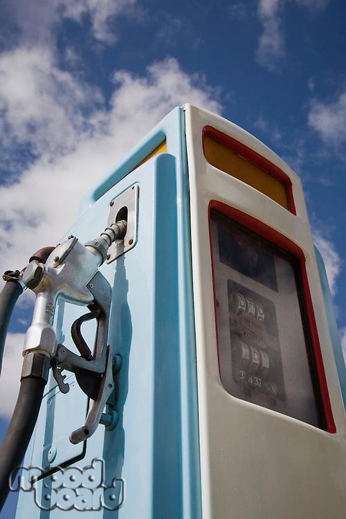 Petrol pump close-up