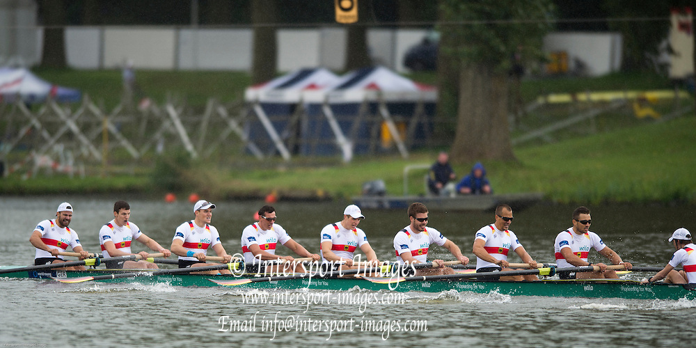 Amsterdam. NETHERLANDS.  GER M8+ silver Medalist, Men's Eight. De Bosbaan Rowing Course, venue for the 2014 FISA  World Rowing. Championships. 14:41:22  Sunday  31/08/2014.  [Mandatory Credit; Peter Spurrier/Intersport-images]