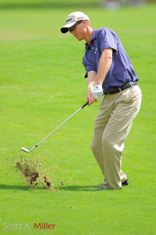 John Senden (AUS) hits his second shot on the third hole during the first round of the PGA Tour Championship at East Lake Golf Club on Sept. 24, 2009 in Decatur, Ga.     ..©2009 Scott A. Miller