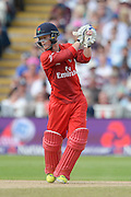 Alex Davies during the NatWest T20 Blast Semi Final match between Hampshire County Cricket Club and Lancashire County Cricket Club at Edgbaston, Birmingham, United Kingdom on 29 August 2015. Photo by David Vokes.