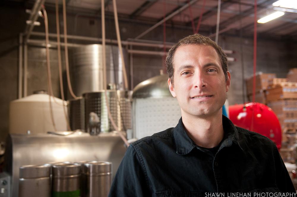 The bottling plant of  Wandering Aengus Cidery in Salem, Oregon.