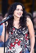 NEW YORK - JULY 30:  Norah Jones visits the set of the  2004 Toyota Concert Series On The Today Show June 30, 2004 in New York City.   (Photo by Matthew Peyton)