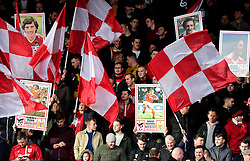 Bristol City fans hold up cards for the Ashton Gate 8  - Mandatory by-line: Joe Meredith/JMP - 04/02/2017 - FOOTBALL - Ashton Gate - Bristol, England - Bristol City v Rotherham United - Sky Bet Championship