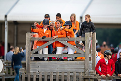 Team Netherlands, Bocken Emma, Boerekamp Finn, de Boer Wesley, Dolfijn Jorinde, Vos Thijmen,<br /> European Jumping Championship Children<br /> Zuidwolde 2019<br /> © Hippo Foto - Dirk Caremans<br /> Team Netherlands, Bocken Emma, Boerekamp Finn, de Boer Wesley, Dolfijn Jorinde, Vos Thijmen,