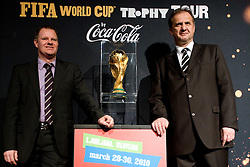 and President of Slovenian football federation Ivan Simic at VIP reception of FIFA World Cup Trophy Tour by Coca-Cola, on March 29, 2010, in BTC City, Ljubljana, Slovenia.  (Photo by Vid Ponikvar / Sportida)