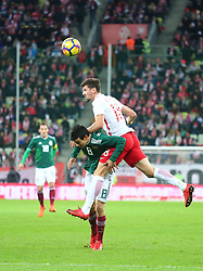 November 13, 2017 - Gdansk, Poland - Hirving Lozano and Pawel Wszolek during the international friendly soccer match between Poland and Mexico at the Energa Stadium in Gdansk, Poland on 13 November 2017  (Credit Image: © Mateusz Wlodarczyk/NurPhoto via ZUMA Press)