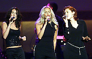 "Country Music trio SHeDaisy performs ""Deck The Halls"" October 25, 2000 during the taping of ""The American Red Cross Holiday Music Spectacular from Miami"" at The Jackie Gleason Theater on Miami Beach. The show, which will be broadcast on the Fox network December 23, 2000. Colin Braley/Stock"