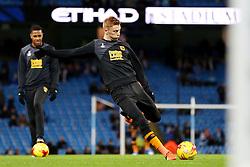 Sam Clucks of Hull City warms up - Mandatory byline: Matt McNulty/JMP - 01/12/2015 - Football - Etihad Stadium - Manchester, England - Manchester City v Hull City - Capital One Cup - Quarter-final