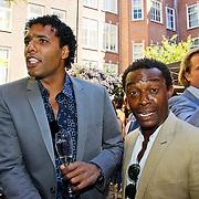 NLD/Amsterdam/20100603 - Uitreiking Talkies Terras Award 2010, Pierre van Hooijdonk en Regi Blinker