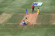 Action during the first women's one day International ( ODI ) match between India and Australia held at the Reliance Cricket Stadium in Vadodara, India on the 12th March 2018<br /> <br /> Photo by Vipin Pawar / BCCI / SPORTZPICS