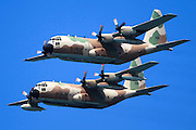 Two Israeli Air force (IAF) Hercules C-130 (Karnaf) transport plane in flight