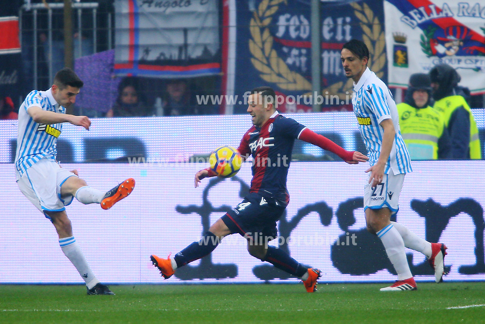 "Foto Filippo Rubin<br /> 03/03/2018 Ferrara (Italia)<br /> Sport Calcio<br /> Spal - Bologna - Campionato di calcio Serie A 2017/2018 - Stadio ""Paolo Mazza""<br /> Nella foto: FEDERICO DI FRANCESCO  (BOLOGNA)<br /> <br /> Photo by Filippo Rubin<br /> March 03, 2018 Ferrara (Italy)<br /> Sport Soccer<br /> Spal vs Bologna - Italian Football Championship League A 2017/2018 - ""Paolo Mazza"" Stadium <br /> In the pic: FEDERICO DI FRANCESCO  (BOLOGNA)"