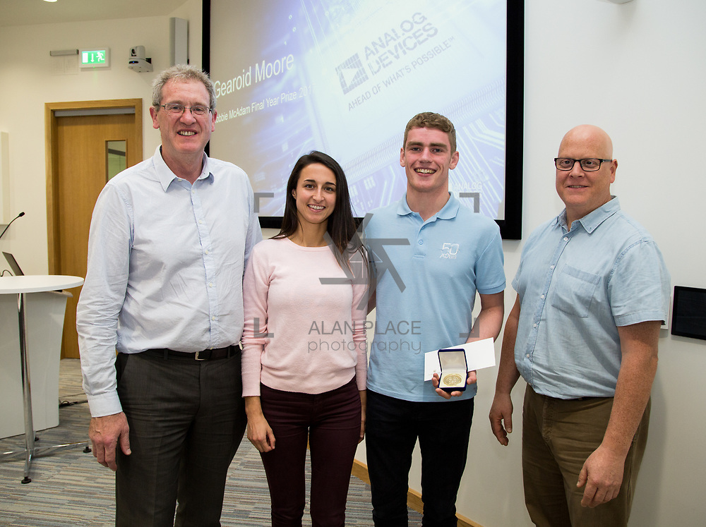 31.05.2017      <br /> University of Limerick Analog Devices Robbie McAdam Awards.<br /> Robbie McAdam Award recipient and Robbie McAdam Medal recipient, Gearoid Moore. Picture: Alan Place.