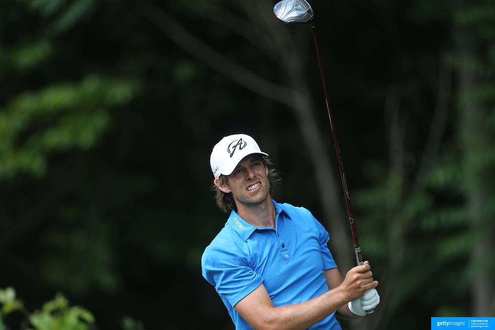 Aaron Baddeley, Australia, in action during the third round of the Travelers Championship at the TPC River Highlands, Cromwell, Connecticut, USA. 21st June 2014. Photo Tim Clayton