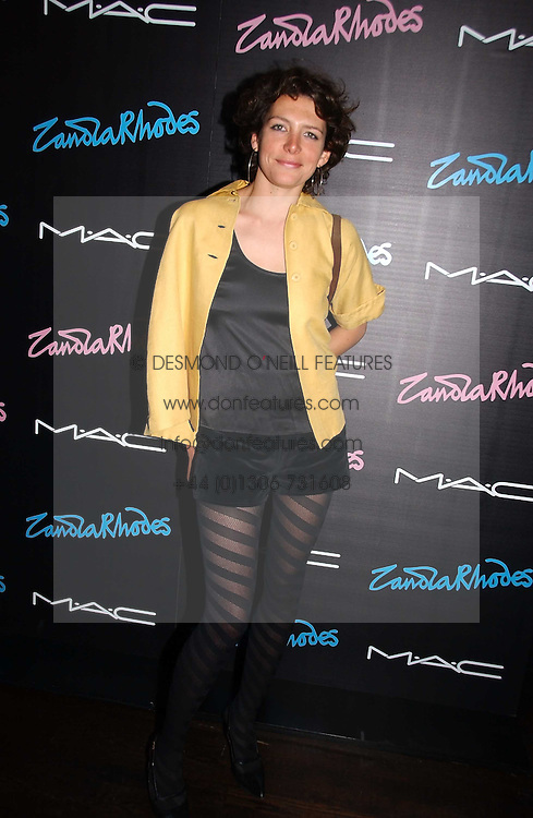 Chef THOMASINA MIERS at a party to celebrate Zandra Rhodes's return to London Fashion week and the launch of a limited edition of M.A.C makeup at Silver, 17 Hanover Square, London W1 on 20th September 2006.<br /><br />NON EXCLUSIVE - WORLD RIGHTS