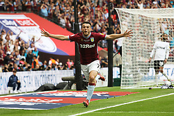 May 27, 2019 - London, England, United Kingdom - John McGinn (7) of Aston Villa celebrates after scoring a goal to make it 2-0 during the Sky Bet Championship Play Off Final between Aston Villa and Derby County at Wembley Stadium, London on Monday 27th May 2019. (Credit Image: © Mi News/NurPhoto via ZUMA Press)