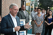 17 August- New York, NY: (L-R) New York City Council Member Jimmy Van Bramer, U.S. Congressman Hakeem Jefferies and New York City Council Member Laurie Cumbo attends the endorsement announcement by U.S.Congressman Hakeem Jeffries of Laurie Cumbo for City Council District 35 held at the Laurie Cumbo Campaign Headquarters in the Prospect Heights section of Brooklyn, NY on August 17, 2013 in New York City. © Terrence Jennings
