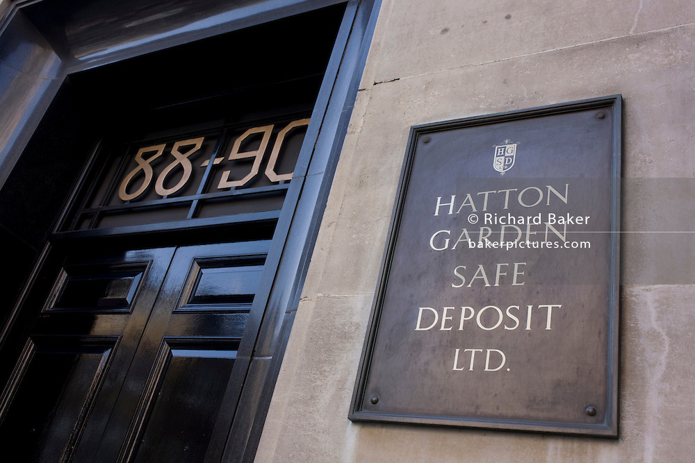 The location in central London where the Hatton Garden safe Deposit company was the scene of one of London's most notorious valuables heists in recent years. Over the Easter weekend, jewellery and other items belonging to people from all walks of life and to the value of tens of millions of Pounds, were ransacked and stolen. The police seemingly ignored burglary alarms over the weekend but believe insider knowledge helped the thieves disable security.