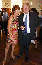 KATHY LETTE and BORIS JOHNSON MP at a party to celebrate the publication of Wicked - A Tale of Two Schools by Jilly Cooper held at Westminster School, Dean's Yard, London on 11th May 2006.<br />