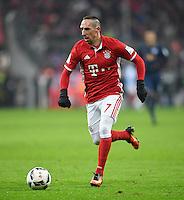 Fussball  1. Bundesliga  Saison 2016/2017  16. Spieltag  FC Bayern Muenchen - RB Leipzig        21.12.2016 Franck Ribery (FC Bayern Muenchen) am Ball
