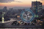 A Ferris wheel at the port in Kobe, Japan.