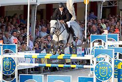 Van Roosbroeck Maurice (BEL) - Dylano<br /> Belgisch Kampioenschap Jumping - Lanaken 2011<br /> © Hippo Foto - Leanjo de Koster