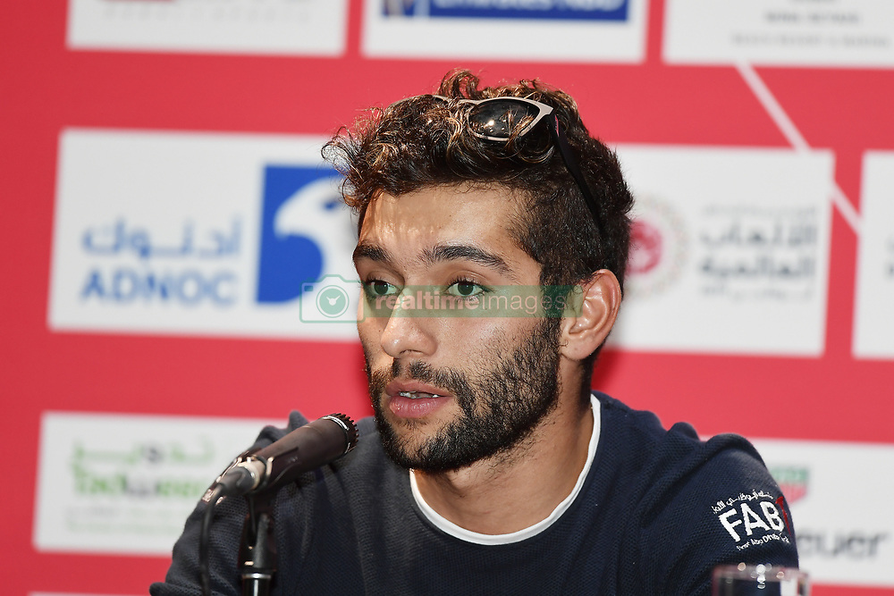 February 23, 2019 - Abu Dhabi - Foto LaPresse - Fabio Ferrari.23 Febbraio 2019 Abu Dhabi (Emirati Arabi Uniti).Sport Ciclismo.UAE Tour 2019 - Conferenza Tor Riders.Nella foto: Fernando Gaviria..Photo LaPresse - Fabio Ferrari.February 23, 2019 Abu Dhabi (United Arab Emirates) .Sport Cycling.UAE Tour 2018 - Top rider press conference.In the pic: Fernando Gaviria (Credit Image: © Fabio Ferrari/Lapresse via ZUMA Press)
